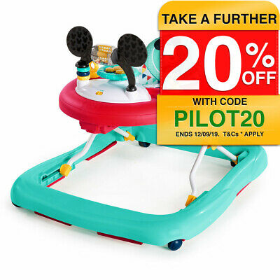 Disney Mickey Mouse Happy Triangles Activity Seat Learning Baby Walker w/ Music