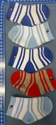 5 Pairs Tommy Hilfiger Baby Cotton Socks silicone at Bottom 6-12 M or 12-24 M