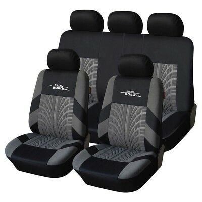 Universal Car Seat Covers Set Embroidery Fit Tire Track Styling Seat Protector