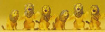 Preiser - Pr20381 - Seated Lions (Ho Scale)