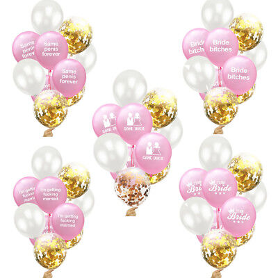 10Pcs Latex Confetti Balloons Hen Party Decoration Wedding Night DO Bride To Be