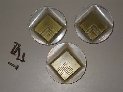 "3 RARE Lucite Deco Moderne 3"" Drawer Pulls * AS IS"