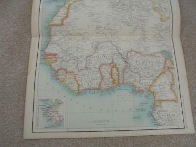 MAP c1900 NORTH WEST AFRICA BARTHOLOMEW ATLAS