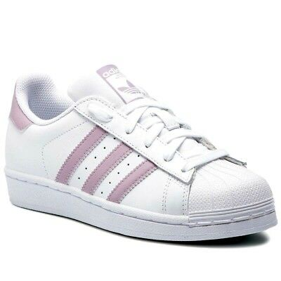 ADIDAS ORIGINALS SUPERSTAR Db3347 Damen Kinder Turnschuhe Sport Weiss Rosa  Hit