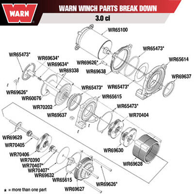 Warn 70407 Winch Spacer Kit - 3.0CI