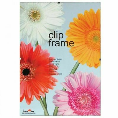 Innova Editions Photo Picture Frameless Clip Frame - 20in x 28in/50cm x 70cm