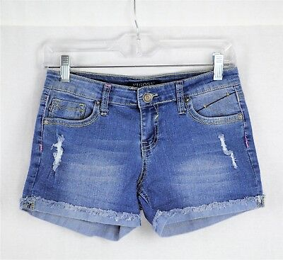 Vigoss Jeans The Jagger Shorts Distressed, Embroidered Girls Size 16, Raw Cuffed