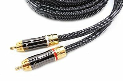 AKORD 2m RCA Stereo Audio Lead Cable (2 x RCA to 2 x RCA) - Gold Connectors -...