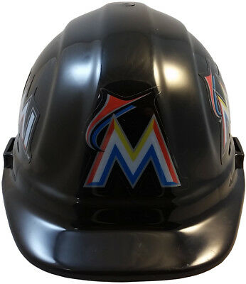 MLB MIAMI MARLINS OSHA Approved Hard Hat Ratchet-Pin Type Susp Made in USA