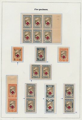Estonia. 1921/26. Red Cross. Page from EXHIBITION COLLECTION