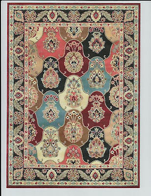 """1:12 Scale Dollhouse Area Rug 0001150 - approximately 7 1/2"""" x 10 3/8"""""""