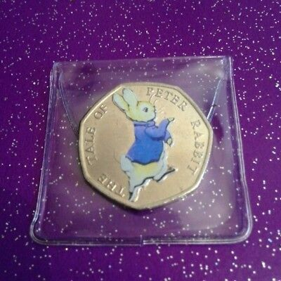 Circulated Coloured 2017 Tale Of Peter Rabbit 50P Circulated
