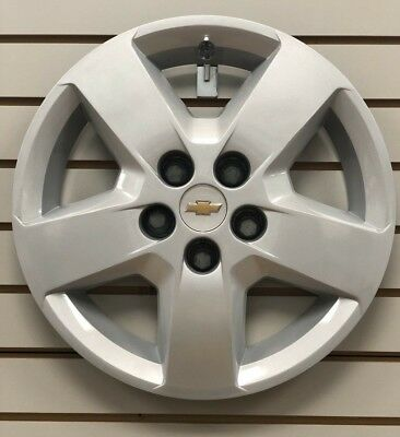 """2007-2011 Chevy HHR 16"""" 5-spoke Silver Hubcap Wheelcover Bolt-on 9596918 OEM"""