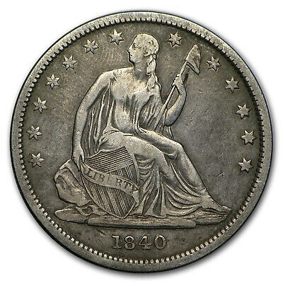 1840 Liberty Seated Half Dollar VF Small Letters (Rev of 1839) - SKU#14827