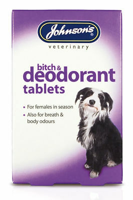Johnsons Bitch & Deodorant 40 tablets - Females in season Breath Body Odour tabs