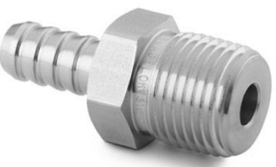 Swagelok SS-6-HC-1-8 Stainless Hose Connector, 1/2 in. Male NPT, 3/8 In. Hose