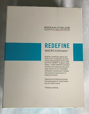 Rodan Fields Redefine MACRO Exfoliator kit with cooling gels filter pads base