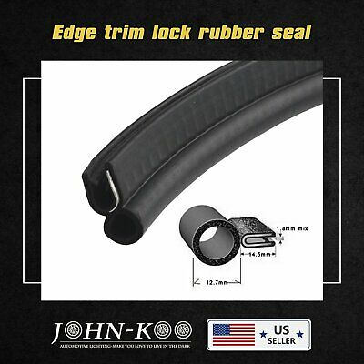 24ft Auto Truck Weather Stripping Seal Trim Lock Doors Bonnet Edge Guard w/Bulb
