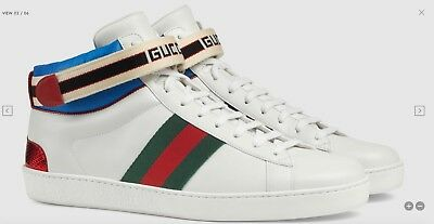 083e5cc7f0e GUCCI 970  ACE High Top Sneakers In White Leather With Removable ...