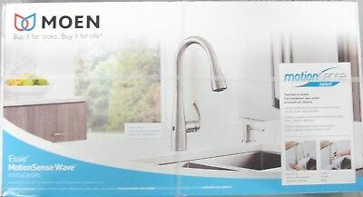 MOEN Essie Motion Sense Wave Pull-Down Kitchen Faucet 87014EWSRS