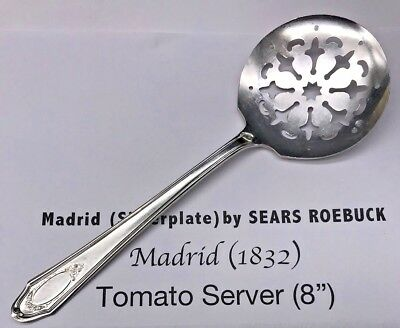 Madrid Tomato Server Silverplate MADRID SILVER PLATE 1932 (#18-585)