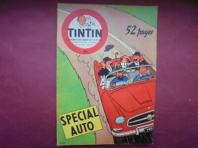Journal Tintin N° 416 Octobre 1956 Couverture Herge Special Auto  Ttbe