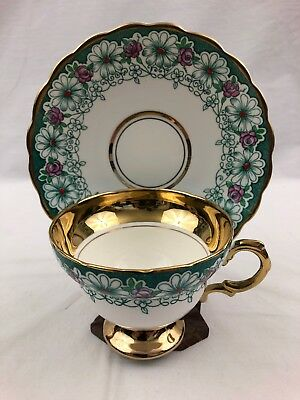 Rosina Queens Bone China Made in England Tea Cup & Saucer Flowers Roses 5351