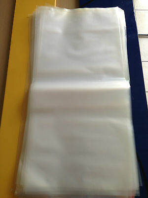100 Large Heavy Duty Plastic Bags 300mm x 560mm Clear Poly 7 kg Packing Bags