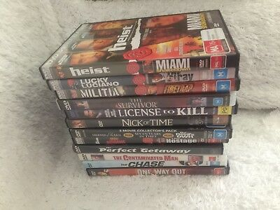 Bulk Lot DVDs x 12 - Some With Two Movies In One - The Contaminated Man