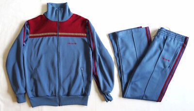 e9e2efd67788 VINTAGE TRACKSUIT 80 s Adidas JACKET PANTS FULL SET Athletic Rap Hip Hop  RARE
