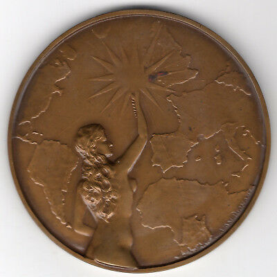 1939 Belgium Medal For the Brussels Press, A L'Agence Belga,, by C. van Dionant