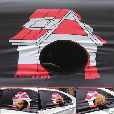 1Pc Pet Dog Car Window Sun Shade Foldable Visor Cover With Hole Hang Out Travel