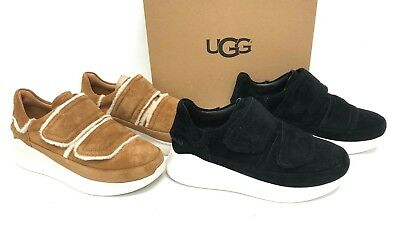 3aa4d99fb97 UGG ASHBY SPILL Seam Sneaker (Black) Women's Hook and Loop Platform ...