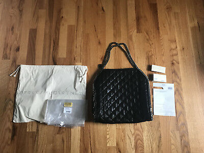 6f7e40529e6 Stella McCartney AUTHENTIC Black Falabella Shaggy Deer Quilted Shoulder Tote  Bag