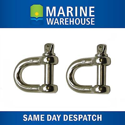 2X D Shackle 316 Marine Grade Stainless Steel 12mm 106153P