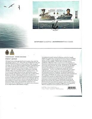 Canada 2010 First Day Cover #2384 Canadian Navy Marine Canadienne Centennial FDC