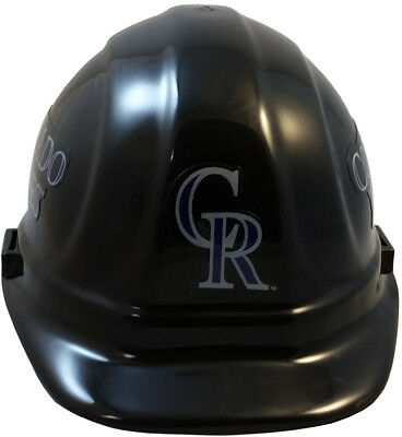 MLB COLORADO ROCKIES OSHA Approved Hard Hat Ratchet-Pin Type Susp Made in US