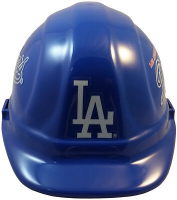 MLB LOS ANGELES DODGERS OSHA Approved Hard Hat Ratchet-Pin Type Susp Made in USA