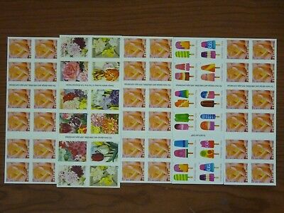 USPS FOREVER STAMPS Hinged or no UPC 5 Books Of 20 = 100 Stamps Value $55.00