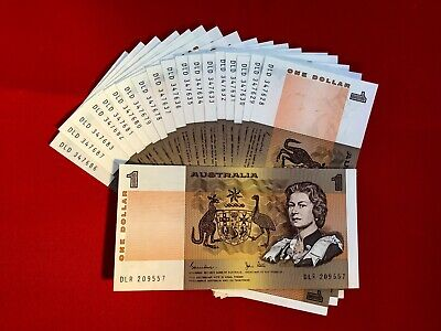 Australian Paper $1 Note Circulated Condition. aUnc & In Sequence. ****New Stock