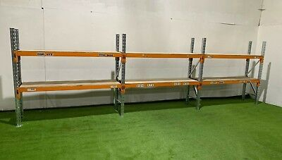 Warehouse Pallet racking, used pallet racking, 3 joined bays, £396.00 + vat