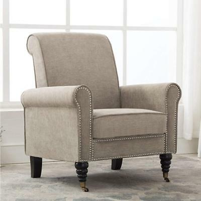 Stylish Armchair Club Chair Accent Chairs Living Room Sofa Chair Nailhead Trim