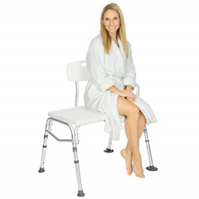 Vive Tub Transfer Bench - Bath & Shower Transfer Bench - Adjustable Handicap - &