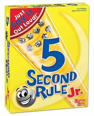 5 Second Rule JuniorBoard Game of Quick Thinking and Fast Talking