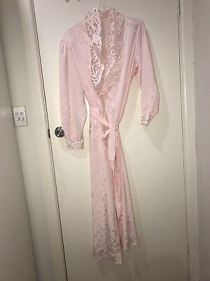 Ladies Light Pink Long Robe Gown