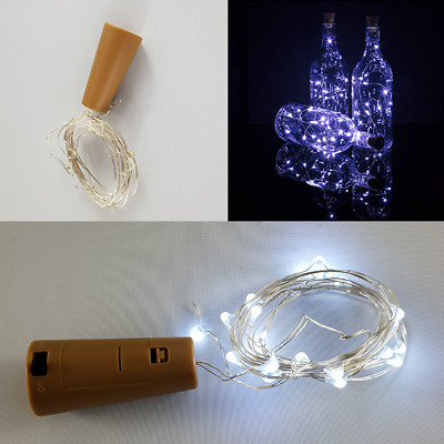Wine Bottle Top Cork Stopper String Fairy Lights - 20 LED's - 2M