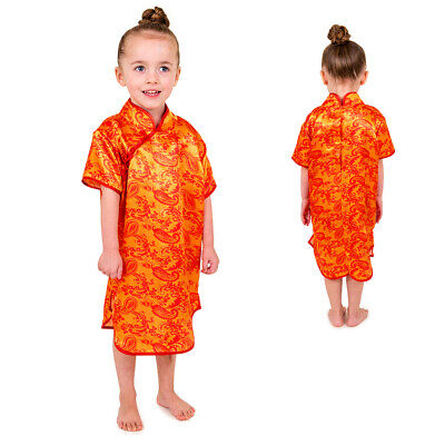 Girls Kids Childrens Chinese Lady New Year Fancy Dress Oriental Costume Age 3-5