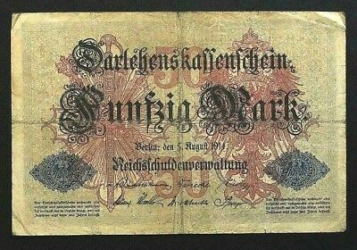 50 Mark 1914 Loan Certificate of the German Empire GERMANY (48E)