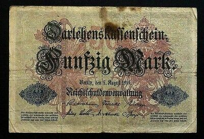 50 Mark 1914 Loan Certificate of the German Empire GERMANY (47E)