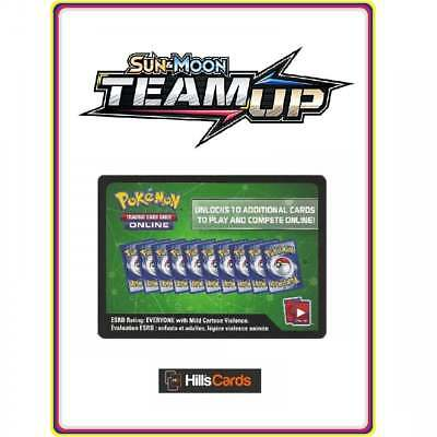 Pokemon Team Up Code Card - Online Booster Code Cards TCGO SM-9 Codes Sun & Moon
